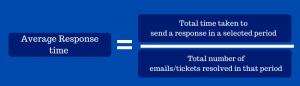 Average response time formula